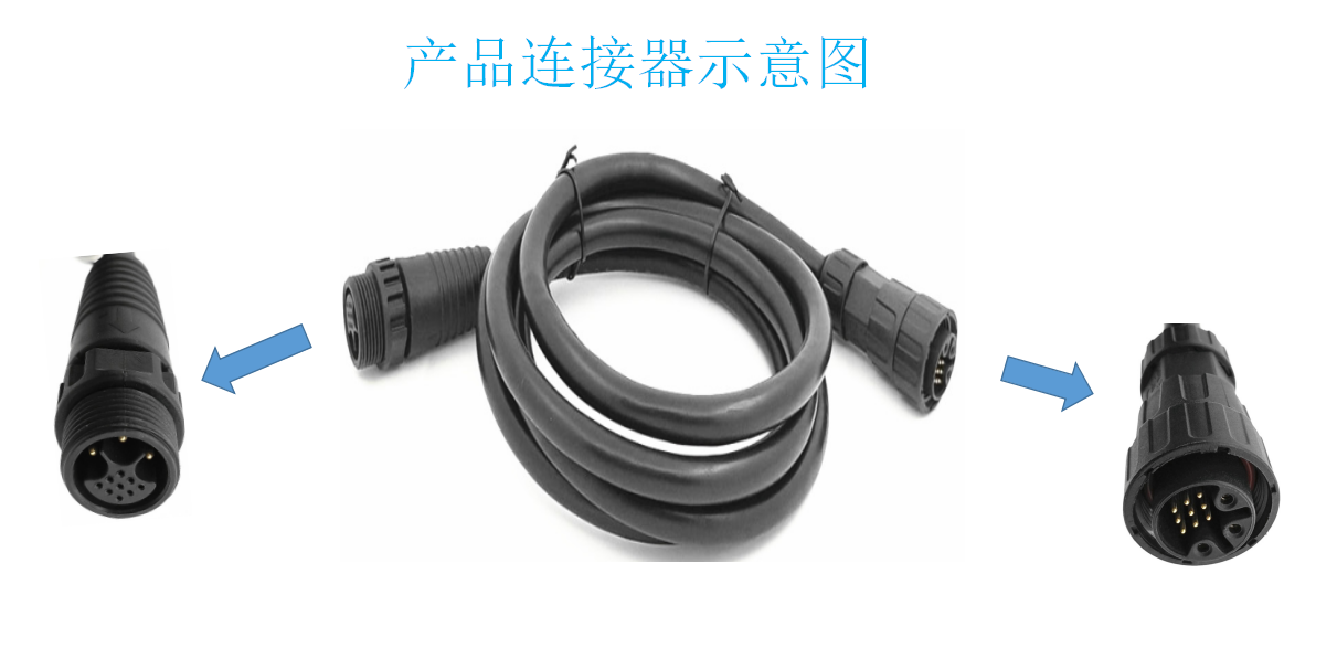 12 inner wire M19 Metal Waterproof Cable. Airspace connector LED lighting connector.
