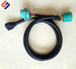 new product:J1939 9P male to famela green plug-02