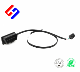 OBDII 16P J1962 Male to OBDII 16P J1962 F*2 , Y cable, GPS tracking flat cable