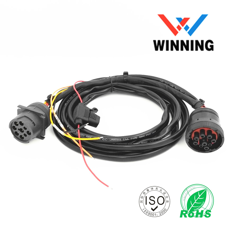 Deutsch J1939 9P Male to J1939 9P Female Include 3A Fuse wire