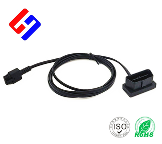OBDII 16P J1962 Male to Molex3.02*5P Male GPS tracking flat cable