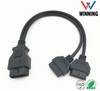 OBDII 16P J1962 Male to J1962 Female Y cable. Vehical Inspection Cable